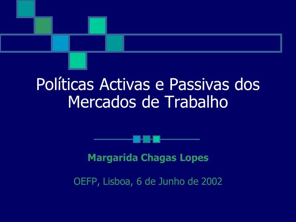 Políticas Activas e Passivas dos Mercados de Trabalho Margarida Chagas Lopes OEFP, Lisboa, 6 de Junho de 2002