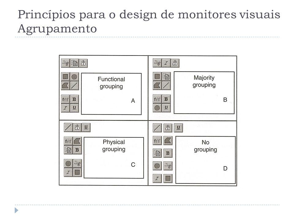 Princípios para o design de monitores visuais Agrupamento