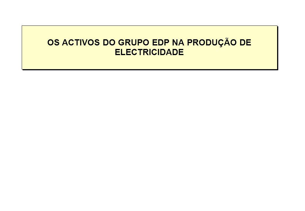 OS ACTIVOS DO GRUPO EDP NA PRODUÇÃO DE ELECTRICIDADE