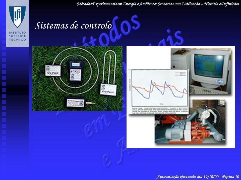 Métodos Experimentais em Energia e Ambiente: Sensores e sua Utilização – História e Definições Apresentação efectuada dia 19/10/00 - Página 10 Sistema