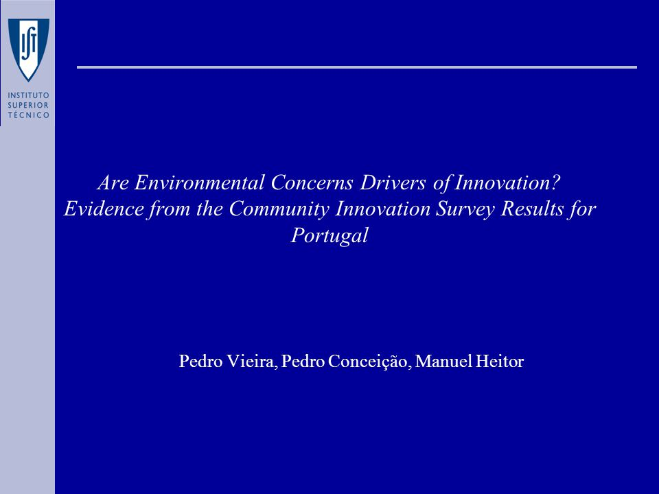 Are Environmental Concerns Drivers of Innovation.