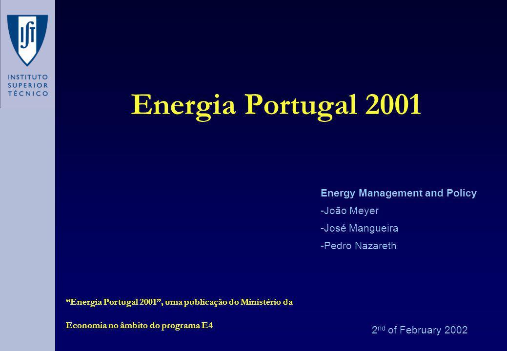 Agenda Introdução A Procura de Energia A Oferta da Energia As Alternativas A motivação: O Sector energético na Economia Nacional A Energia e o Ambiente Os Desafios para Portugal