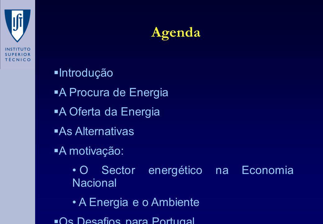 As Alternativas Energias renováveis Mini-hídrica Eólica Biomassa Energia Solar (térmica ou fotovoltaica) Geotérmica Ondas Eficiência tecnológica: Co-geração Mudança de paradigma: A microgeração