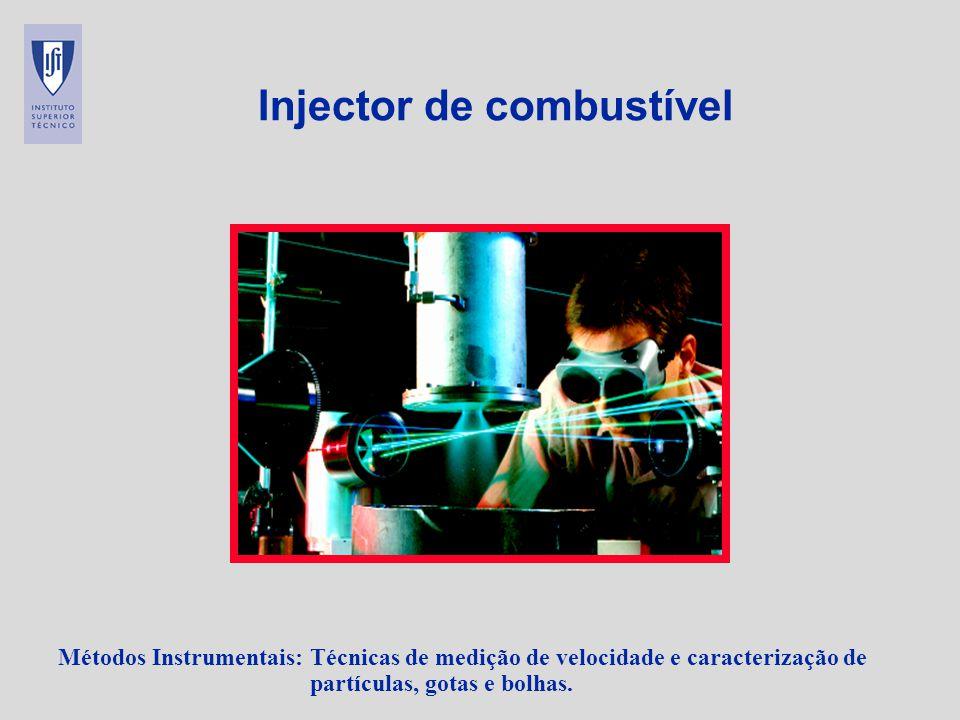 Métodos Instrumentais: Técnicas de medição de velocidade e caracterização de partículas, gotas e bolhas. Injector de combustível