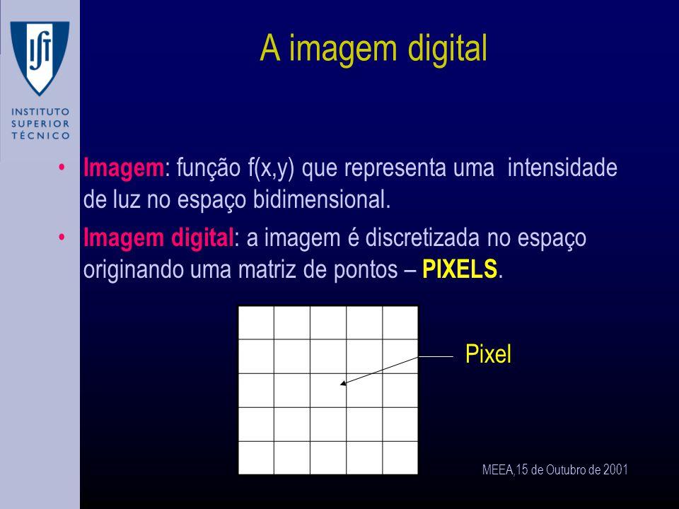 MEEA,15 de Outubro de 2001 Técnicas de visualização, aquisição e processamento de imagem