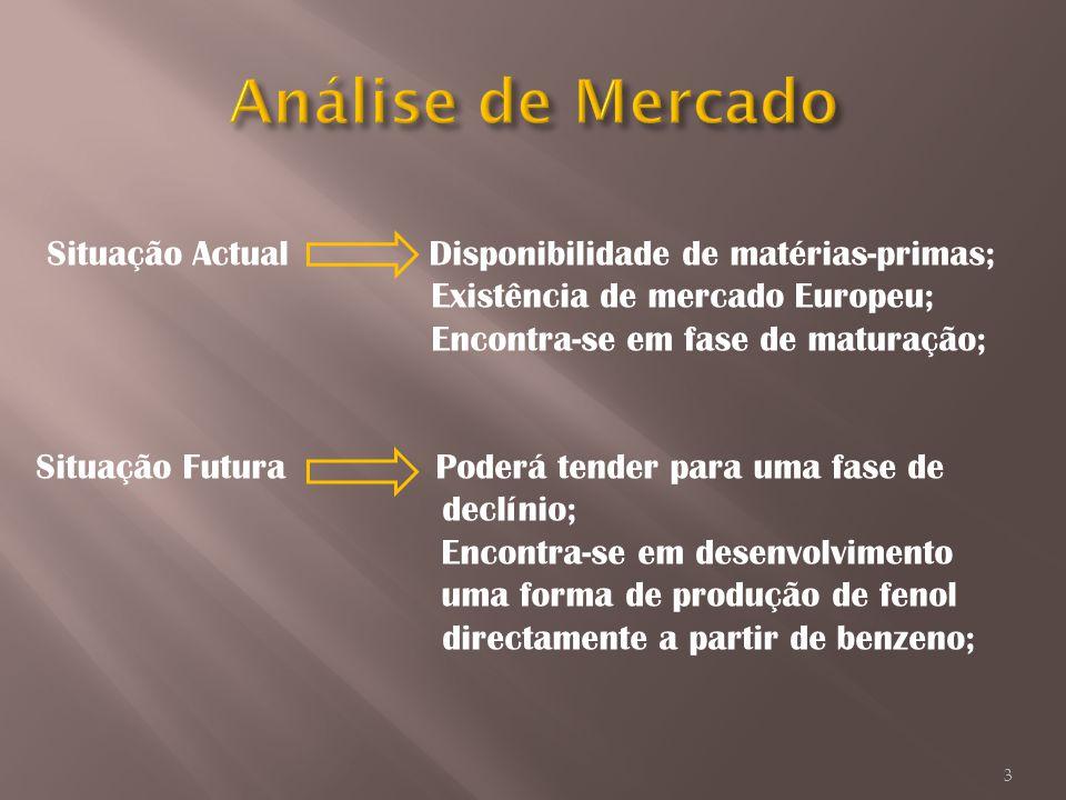 Situação Actual Disponibilidade de matérias-primas; Existência de mercado Europeu; Encontra-se em fase de maturação; Situação Futura Poderá tender par