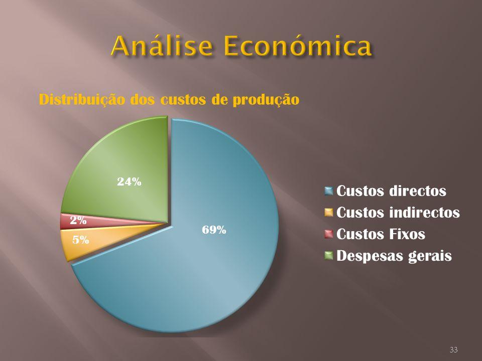 Distribuição dos custos de produção 33 69% 24% 5%