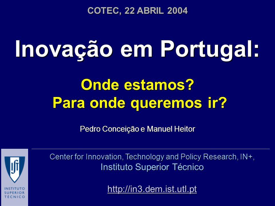 Inovação em Portugal: Onde estamos. Para onde queremos ir.