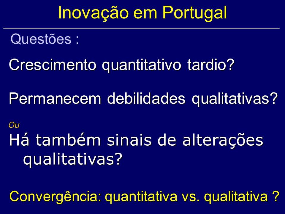 Ou Há também sinais de alterações qualitativas. Convergência: quantitativa vs.
