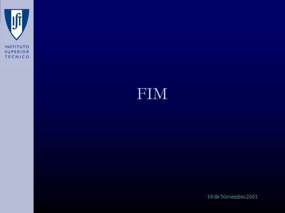 19 de Novembro 2001 FIM