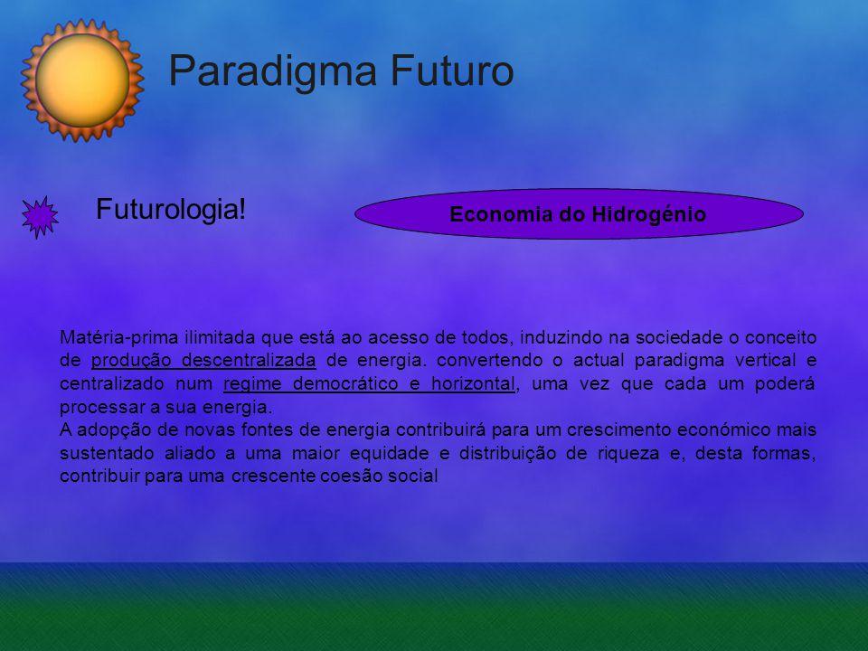 Paradigma Futuro Futurologia! Matéria-prima ilimitada que está ao acesso de todos, induzindo na sociedade o conceito de produção descentralizada de en