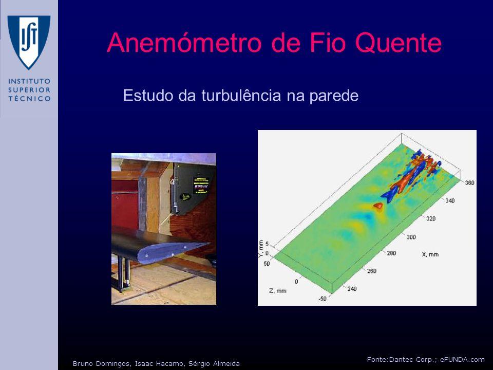 Anemómetro de Fio Quente Fonte:Dantec Corp.; eFUNDA.com Bruno Domingos, Isaac Hacamo, Sérgio Almeida Estudo da turbulência na parede