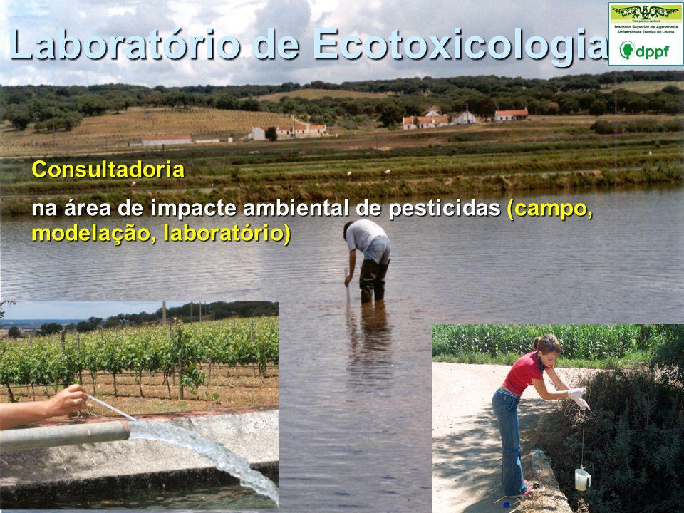 Consultadoria na área de impacte ambiental de pesticidas (campo, modelação, laboratório)