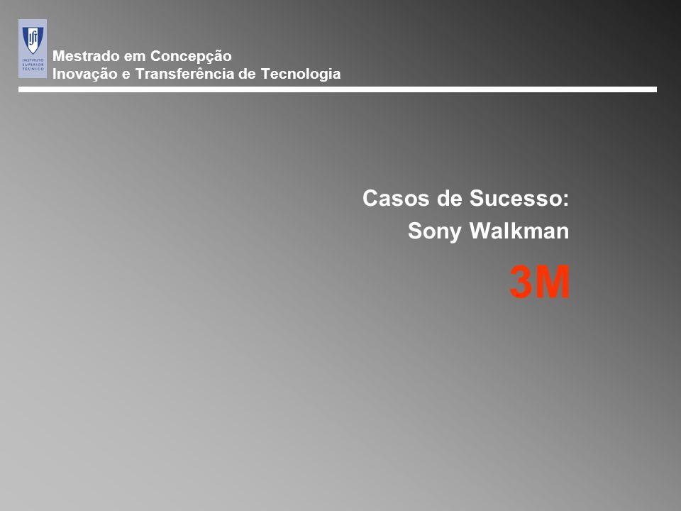 Mestrado em Concepção Inovação e Transferência de Tecnologia Casos de Sucesso: Sony Walkman 3M
