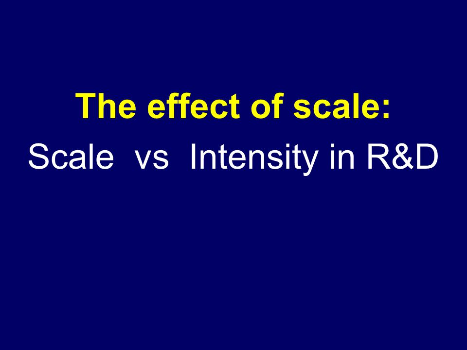 The effect of scale: Scale vs Intensity in R&D