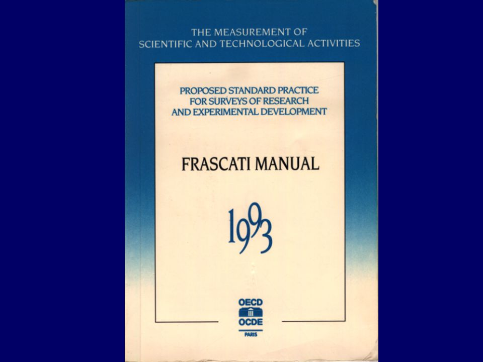 Definition of research and development (Frascati Manual) R&D is defined as creative work undertaken on a systematic basis in order to increase the stock of knowledge including knowledge of man, culture and society, and the use of this stock of knowledge to devise new applications.