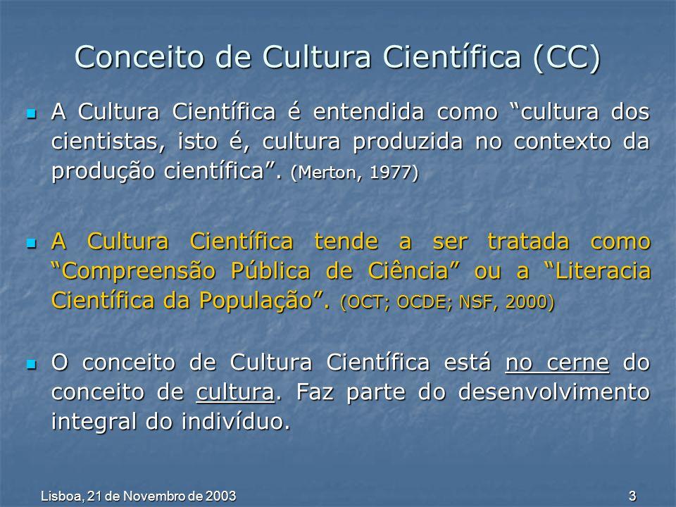 Lisboa, 21 de Novembro de 2003 4 Evolução do Conceito Ao longo do Séc.