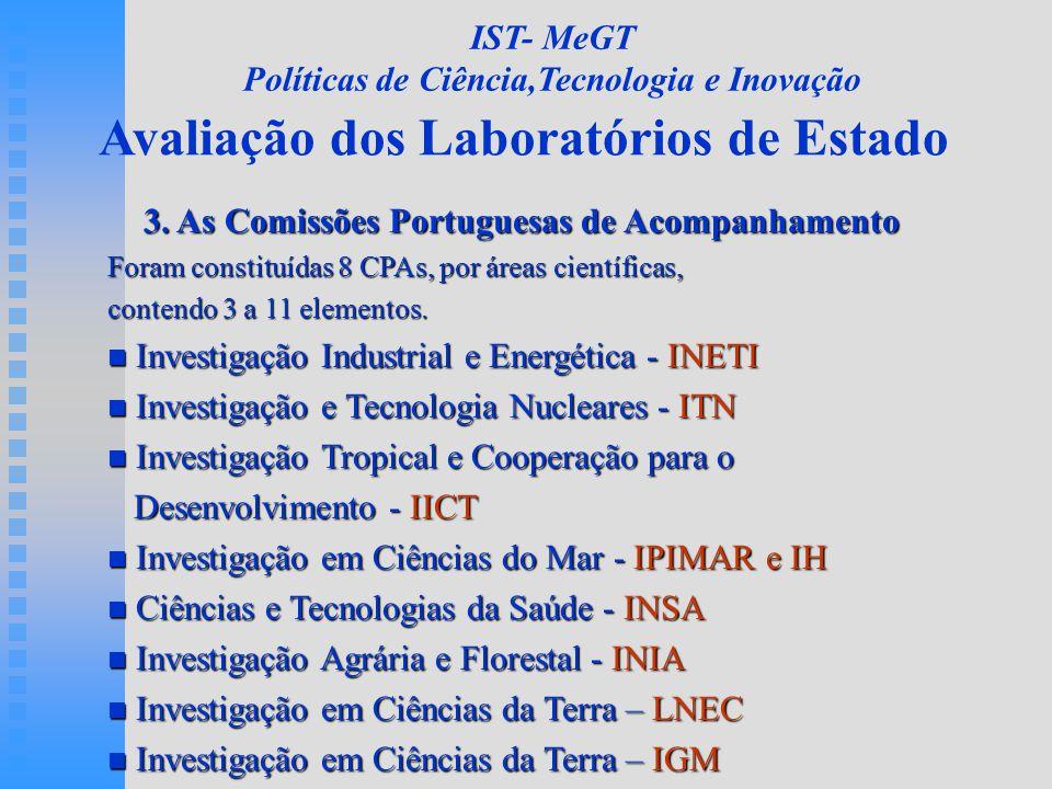 Avaliação dos Laboratórios de Estado 3.