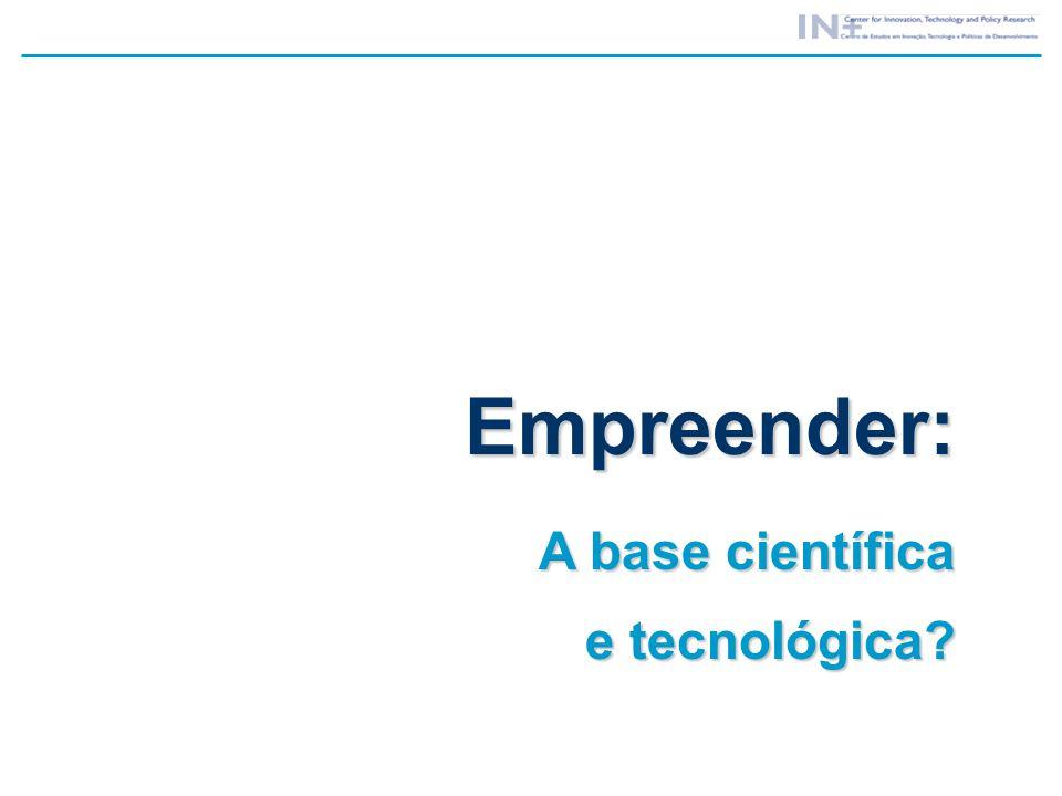 Empreender: A base científica e tecnológica?