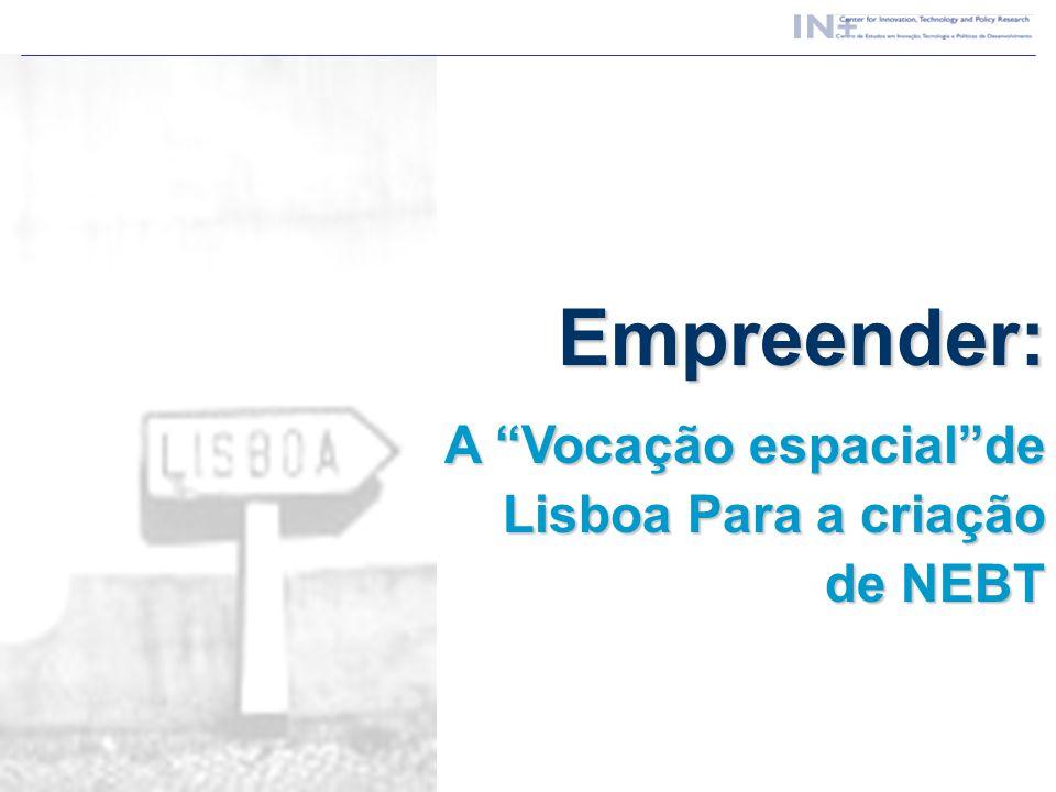 Empreender: A Vocação espacialde Lisboa Para a criação de NEBT