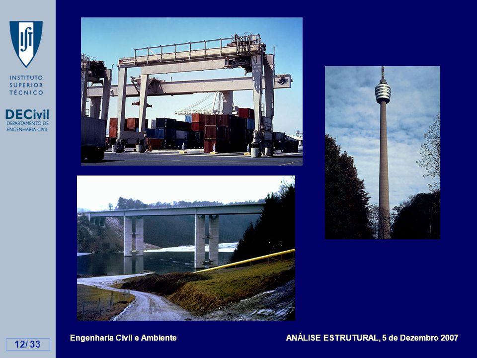 Engenharia Civil e Ambiente ANÁLISE ESTRUTURAL, 5 de Dezembro 2007 12/ 33