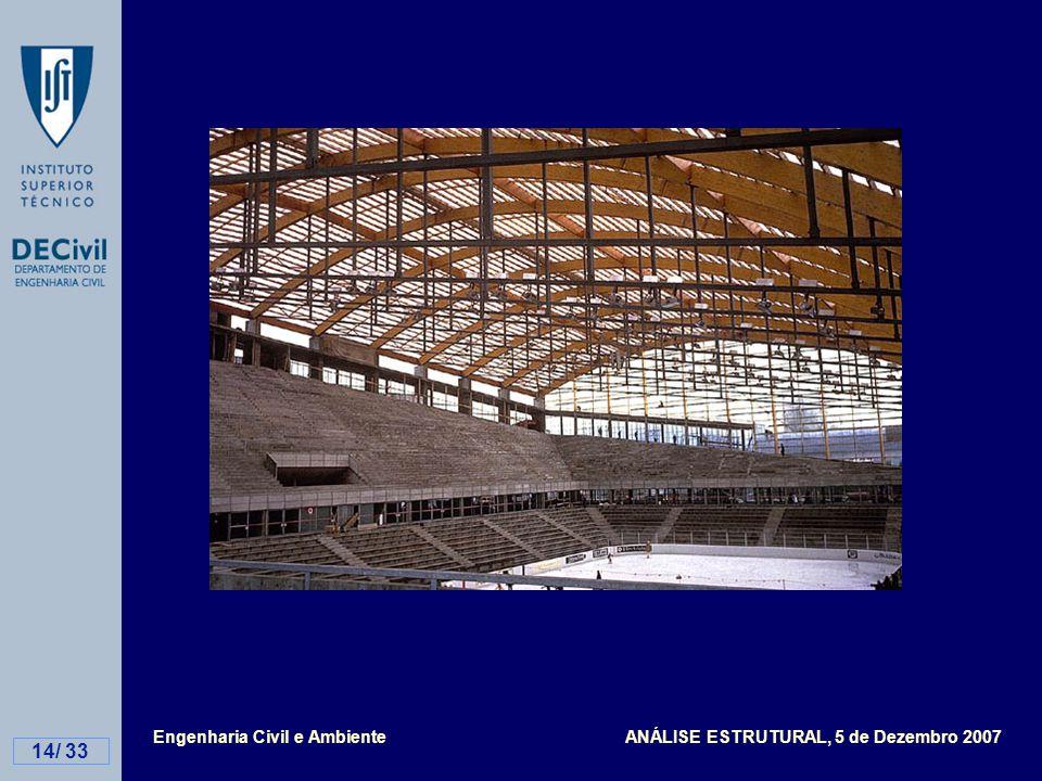 Engenharia Civil e Ambiente ANÁLISE ESTRUTURAL, 5 de Dezembro 2007 14/ 33