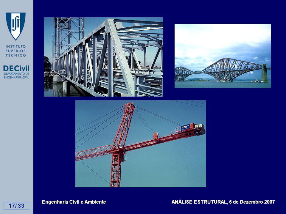 Engenharia Civil e Ambiente ANÁLISE ESTRUTURAL, 5 de Dezembro 2007 17/ 33