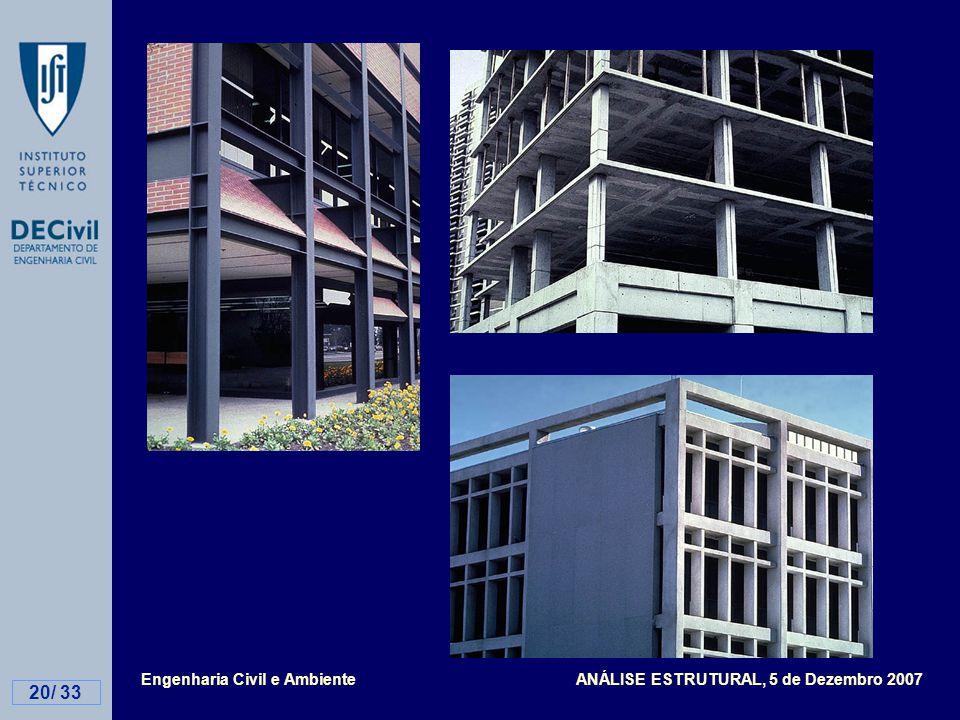 Engenharia Civil e Ambiente ANÁLISE ESTRUTURAL, 5 de Dezembro 2007 20/ 33