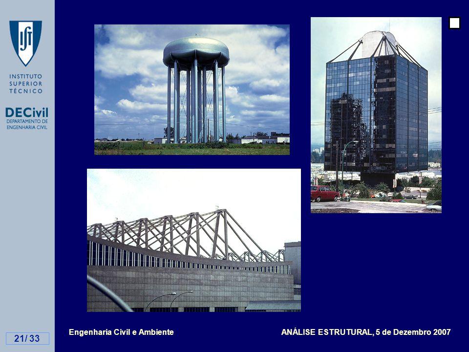 Engenharia Civil e Ambiente ANÁLISE ESTRUTURAL, 5 de Dezembro 2007 21/ 33