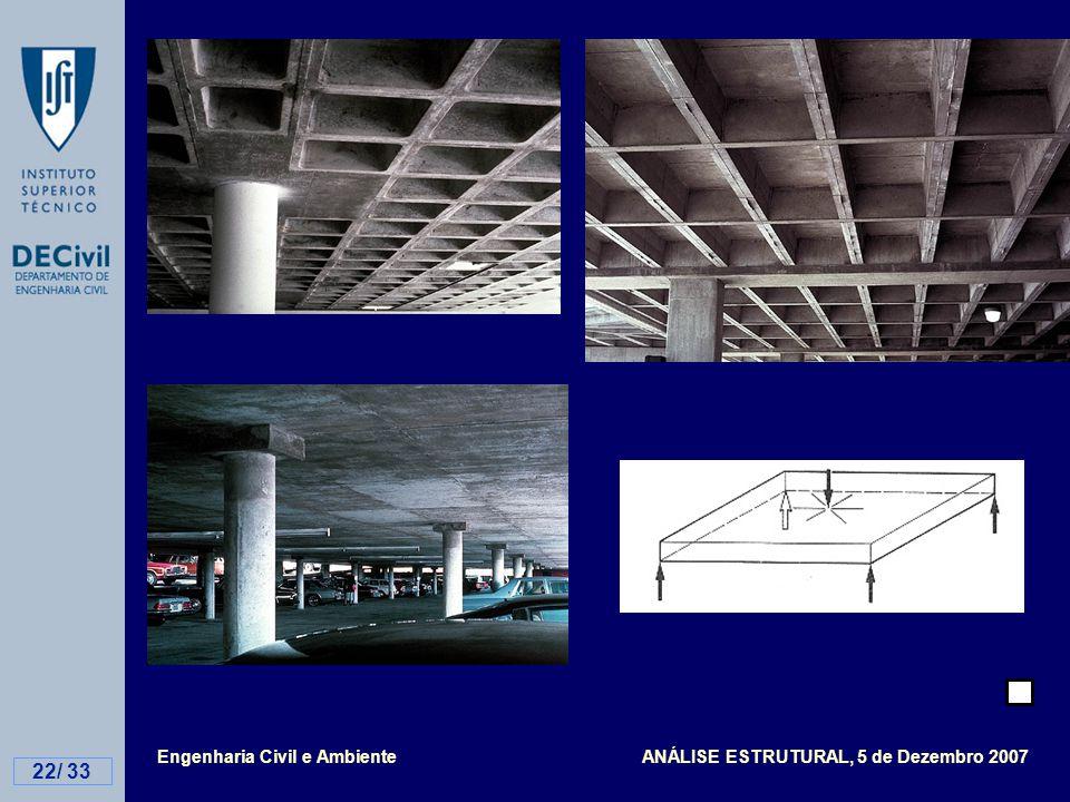 Engenharia Civil e Ambiente ANÁLISE ESTRUTURAL, 5 de Dezembro 2007 22/ 33