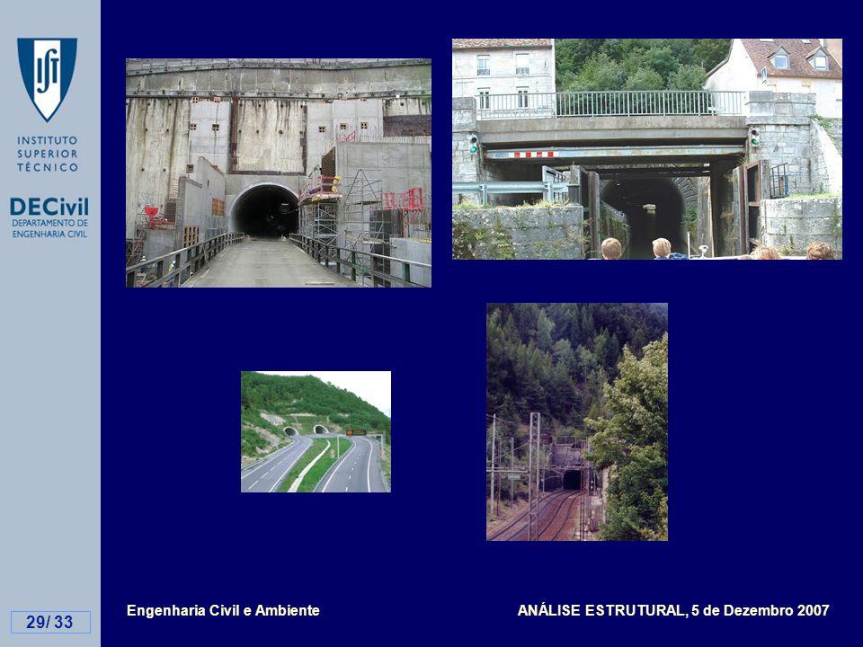 Engenharia Civil e Ambiente ANÁLISE ESTRUTURAL, 5 de Dezembro 2007 29/ 33