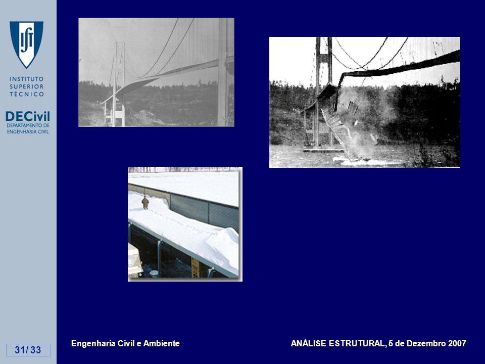 Engenharia Civil e Ambiente ANÁLISE ESTRUTURAL, 5 de Dezembro 2007 31/ 33