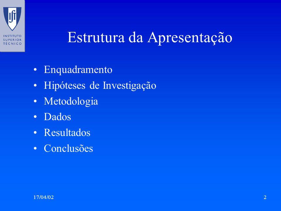 17/04/023 Enquadramento: Uso de Materiais Economia Ar Água Vapor * * Matthews et al.