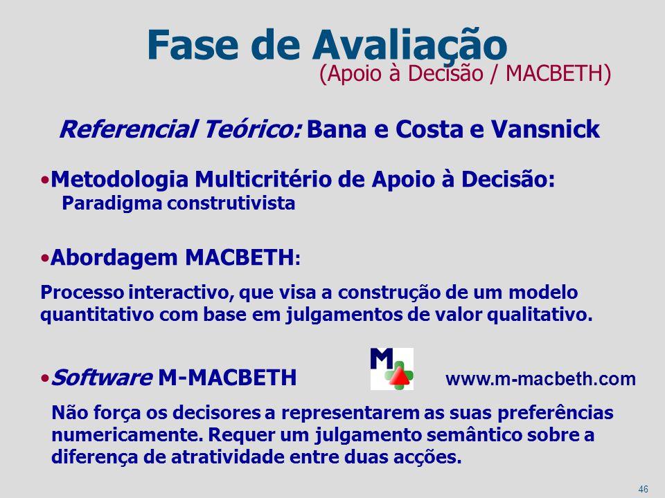 46 www.m-macbeth.com Não força os decisores a representarem as suas preferências numericamente. Requer um julgamento semântico sobre a diferença de at