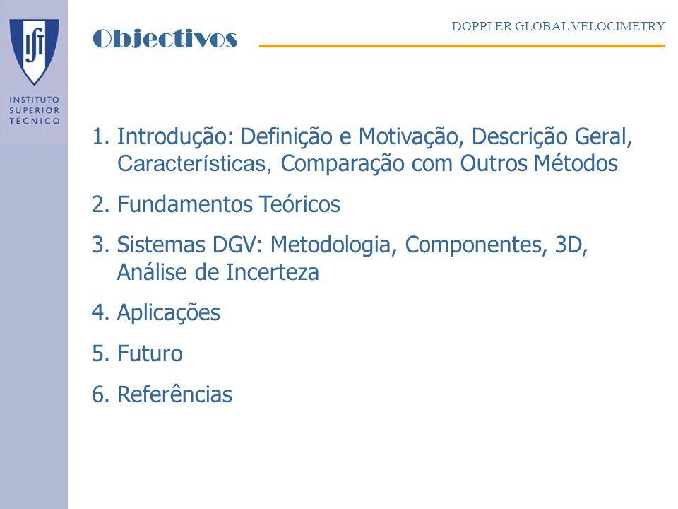 1.Introdução: Definição e Motivação, Descrição Geral, Características, Comparação com Outros Métodos 2.Fundamentos Teóricos 3.Sistemas DGV: Metodologi