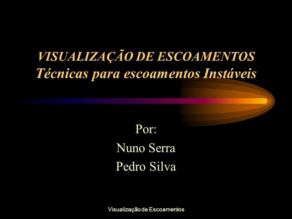 Visualização de Escoamentos VISUALIZAÇÃO DE ESCOAMENTOS Técnicas para escoamentos Instáveis Por: Nuno Serra Pedro Silva