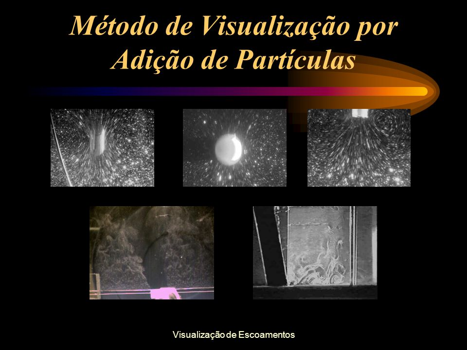 Visualização de Escoamentos Método de Visualização por Adição de Partículas