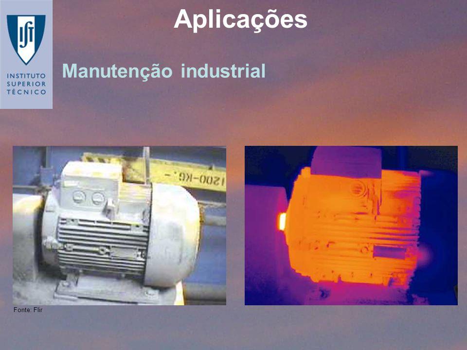 Manutenção industrial Aplicações Fonte: Flir