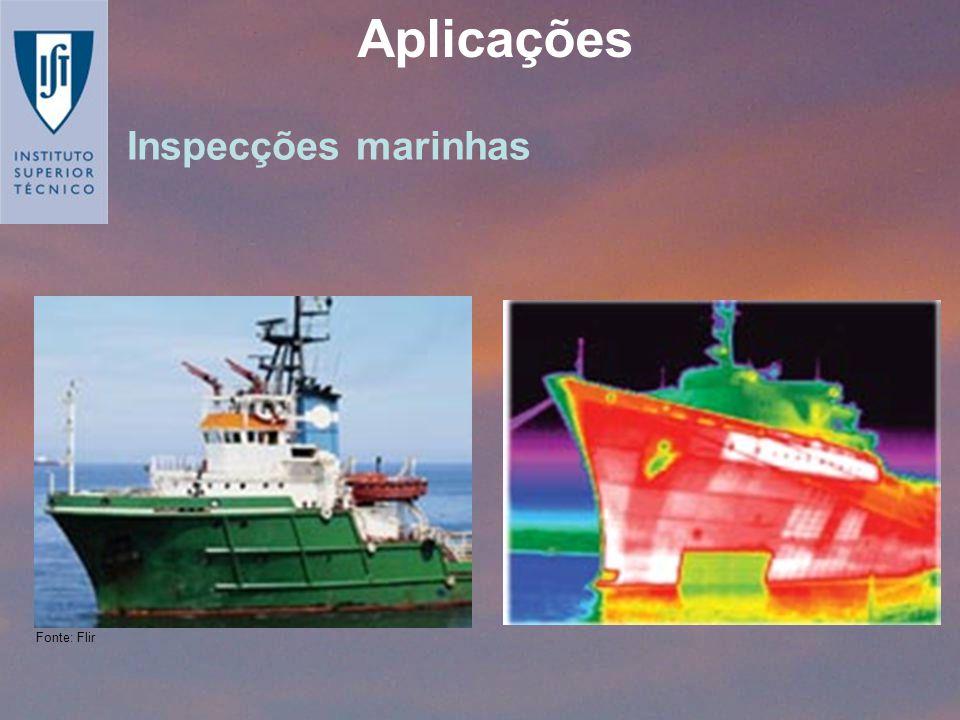 Inspecções marinhas Aplicações Fonte: Flir