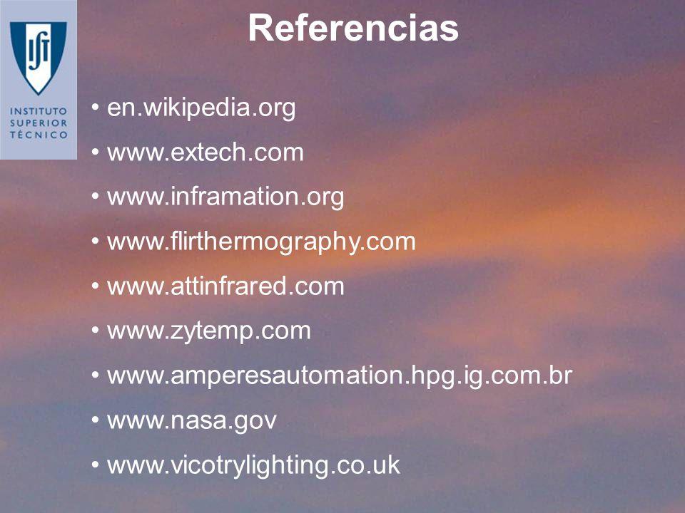 en.wikipedia.org www.extech.com www.inframation.org www.flirthermography.com www.attinfrared.com www.zytemp.com www.amperesautomation.hpg.ig.com.br ww