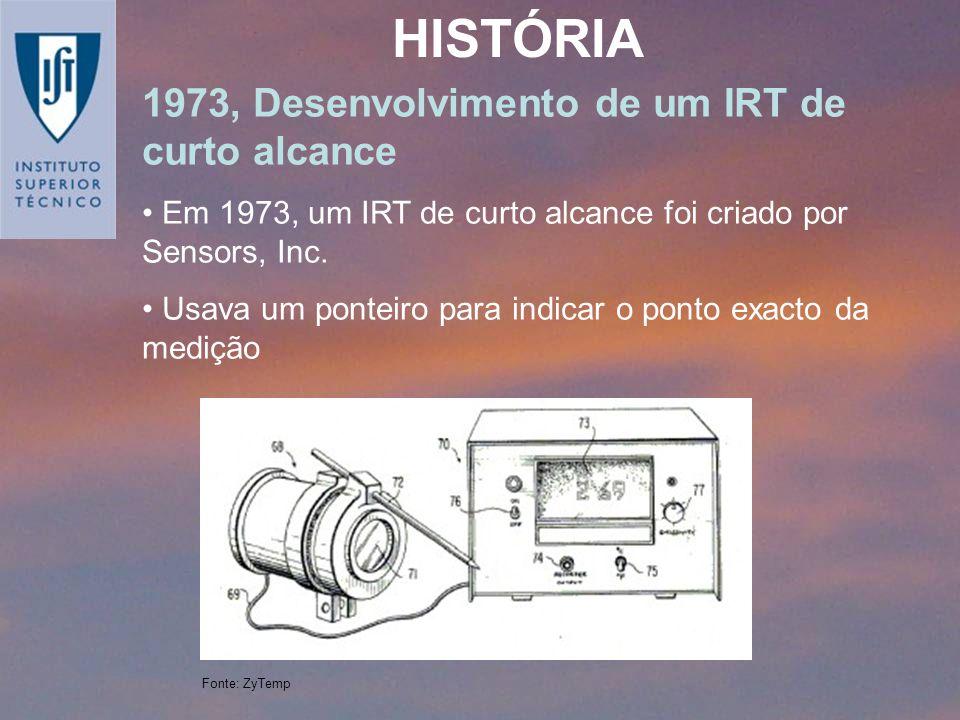 1973, Desenvolvimento de um IRT de curto alcance Em 1973, um IRT de curto alcance foi criado por Sensors, Inc. Usava um ponteiro para indicar o ponto