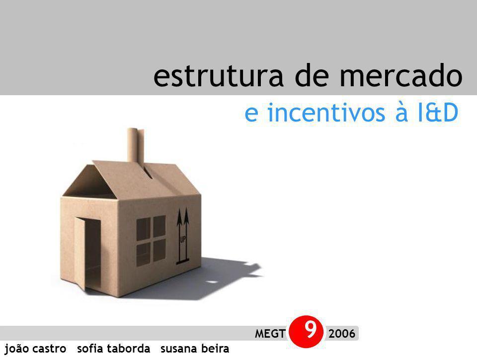 joão castro sofia taborda susana beira MEGT 9 2006 e incentivos à I&D estrutura de mercado