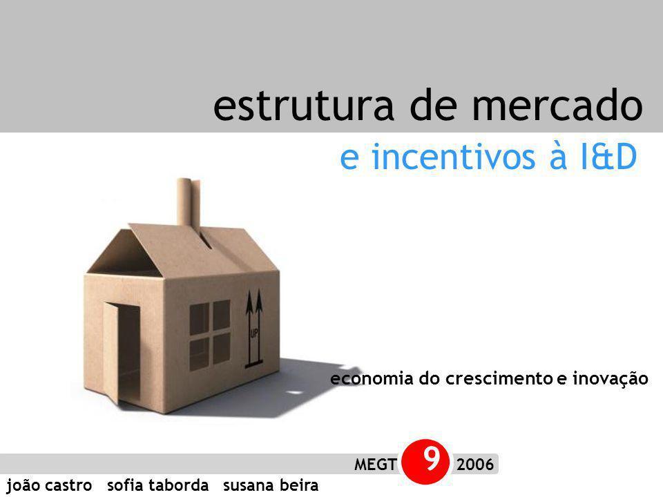 joão castro sofia taborda susana beira MEGT 9 2006 e incentivos à I&D estrutura de mercado economia do crescimento e inovação