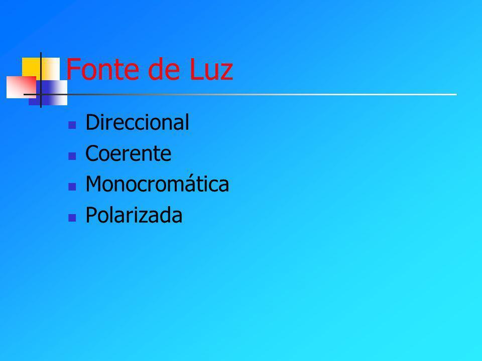 Fonte de Luz Direccional Coerente Monocromática Polarizada