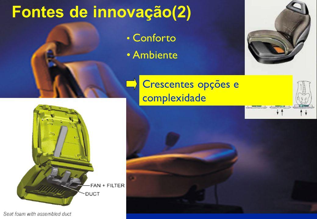 Reduçaõ no peso Redução de Custos Segurança Fontes de innovação (1)