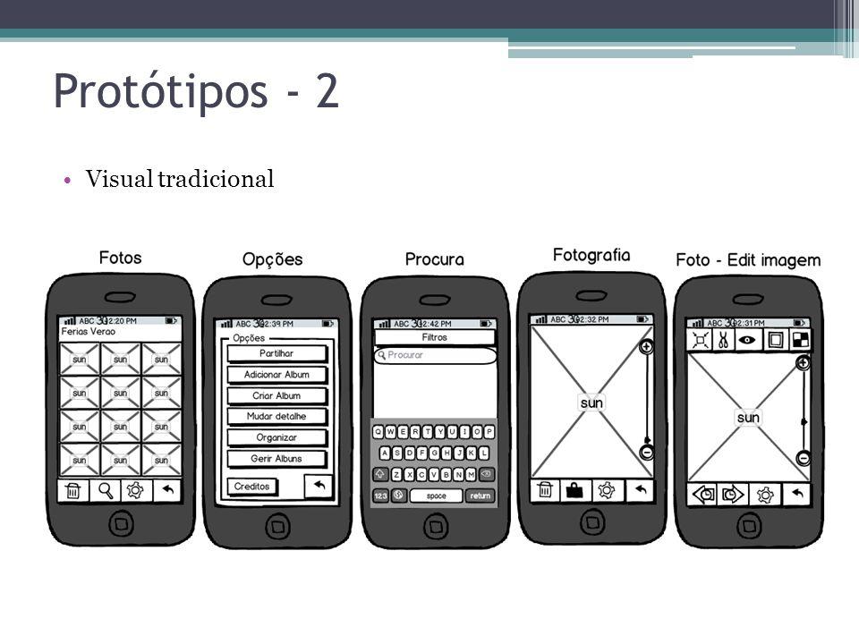 Protótipos - 2 Visual tradicional