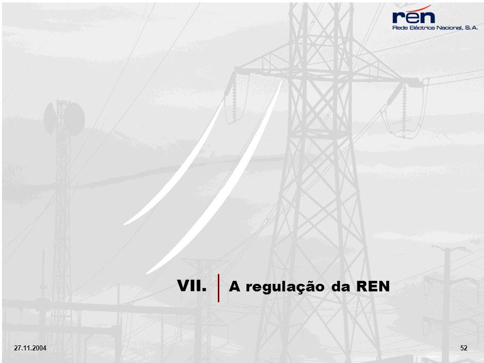 27.11.2004 52 A regulação da REN VII.