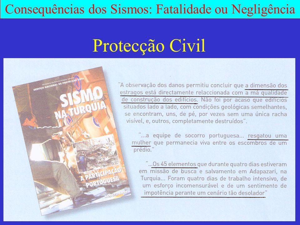 Consequências dos Sismos: Fatalidade ou Negligência Protecção Civil