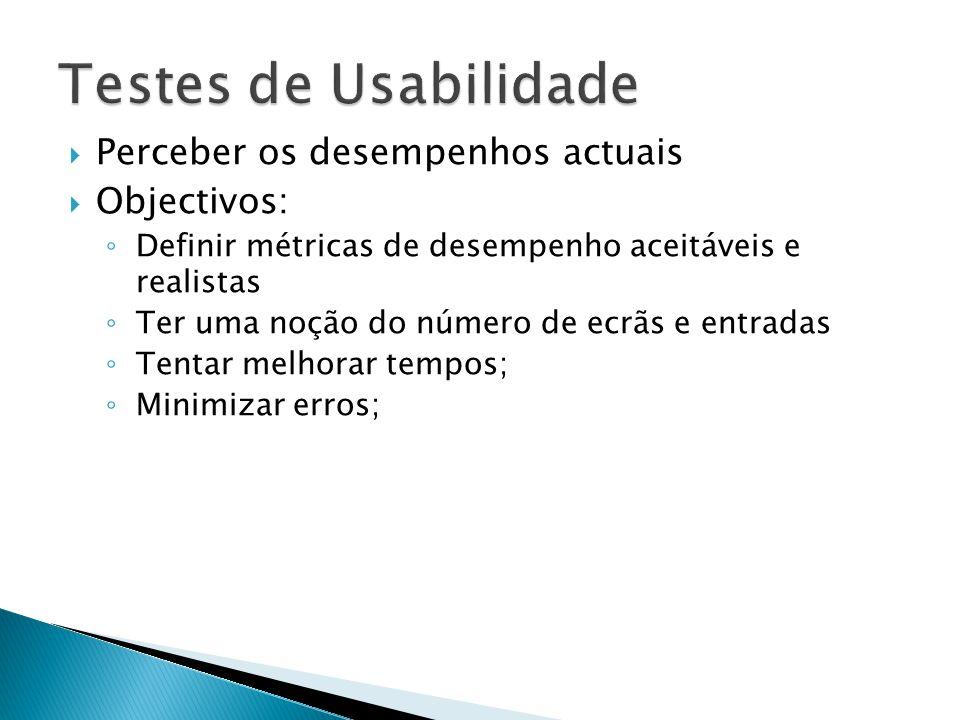 Atributo: Catalogar dados multimédia Medida: Facilidade de uso 1ª vez, sem treino Método de medida: Tempo que demora a catalogar os dados multimédia de um determinado móvel, ou seja, criar uma lista.