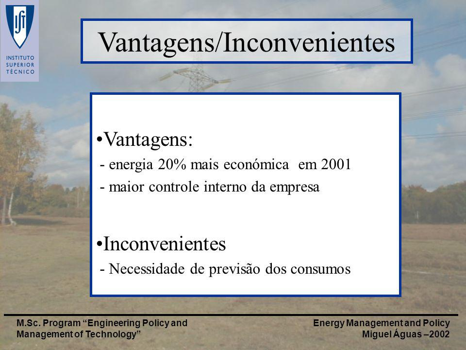 Energy Management and Policy Miguel Águas –2002 M.Sc.